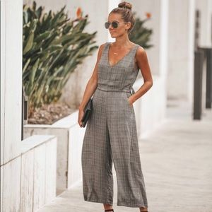Other - Gray plaid romper